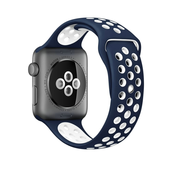 WatchbandblueWhite Apple Fashionable 1amp; Watch NikeSport Classical Series 2 For Silicone vmnyN0O8w